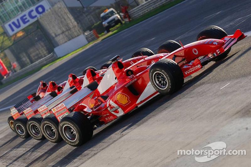Monoplaces F1 de Ferrari des années passées