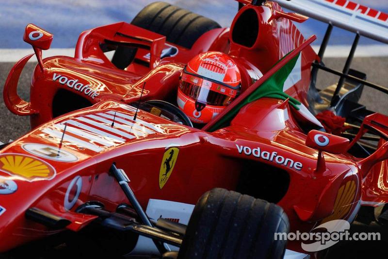 Michael Schumacher avec le drapeau italien