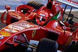 Michael Schumacher with the Italian flag
