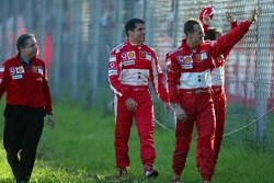 Jean Todt, Marc Gene and Michael Schumacher