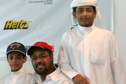 Yahya Alheli with his two biggest fans, sons Mansour (15) and Mohammed (9)