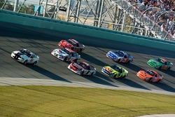 Pace laps: Kasey Kahne and Scott Riggs lead the field