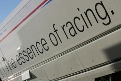 BMW Sauber F1 team transporter