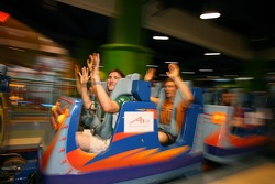 Cosmos World Theme Park, Kuala Lumpur: John O'Hara on a rollercoaster