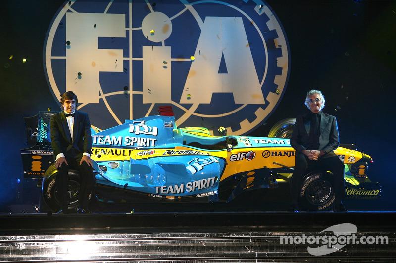 费尔南多•阿隆索,弗拉维奥•布里亚托雷参加FIA F1年度颁奖典礼