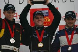 Podium: race winner Jonny Reid with Nico Hulkenberg and Nicolas Lapierre