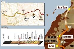 Stage 6: 2007-01-11, Tan Tan to Zouérat