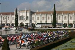 Motorcycles at scrutineering