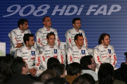 Pressekonferenz: Jacques Villeneuve, Marc Gene, Pedro Lamy, Eric Hélary, Stéphane Sarrazin, Nicolas Minassian und Sébastien Bourdais