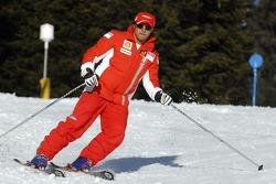Фелипе Масса на лыжах