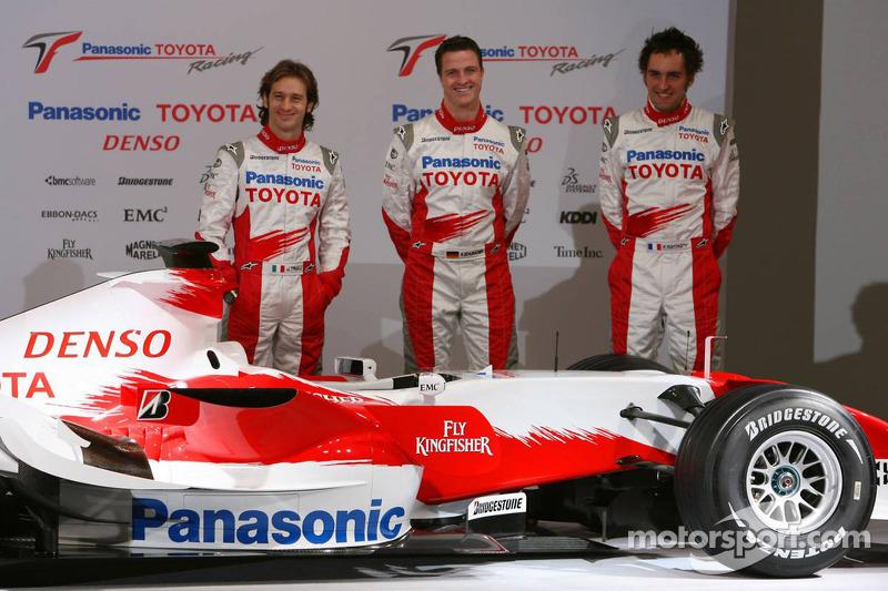 Jarno Trulli, Ralf Schumacher and Franck Montagny