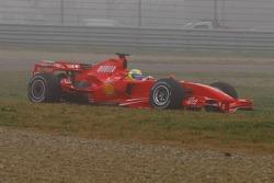 Felipe Massa tests the new Ferrari F2007