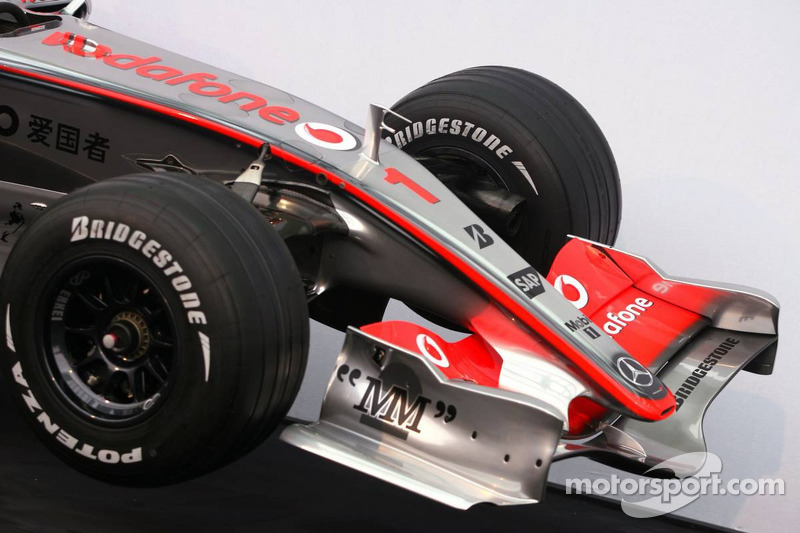 Detail of the new McLaren Mercedes MP4-22