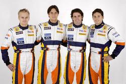 Heikki Kovalainen, Nelson A. Piquet, Ricardo Zonta and Giancarlo Fisichella
