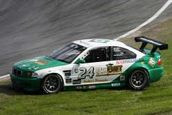 Crash and spin for #24 Matt Connolly Motorsports BMW M3: Mike Pickett, Bill Cotter, Ray Mason