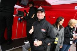 Jimmy Vasser celebrates pole position