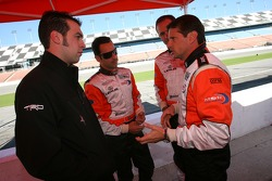 Sam Hornish Jr., Helio Castroneves, Mark Patterson and Oswaldo Negri