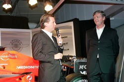 Director Spyker Formula One Team Michiel Mol and Chief Executive Officer Victor Muller