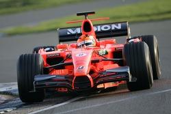 Christijan Albers teste la Spyker-Ferrari F8-VII de 2007
