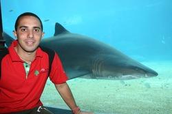 Khalil Beschir at the Ushaka Marine World Shark tank