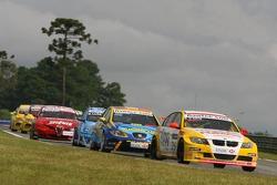 Stefano D'Aste, Wiechers Sport BMW, BMW 320si WTCC et Pierre-Yves Corthals, SEAT Belgique and Monroe, SEAT Leon