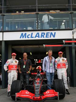 Fernando Alonso, McLaren Mercedes, Kelly Slater, Professional Surfer, Shane Warne, Former Australian International Cricket player and Lewis Hamilton, McLaren Mercedes