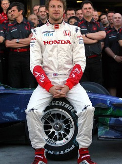 Honda F1 Team photoshoot, Jenson Button, Honda Racing F1 Team