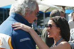 Flavio Briatore, Renault F1 Team, Team Chief, Managing Director and Dannii Minogue Australian pop-singer