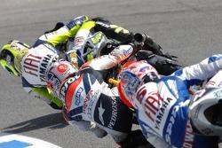 Valentino Rossi, Dani Pedrosa and Colin Edwards