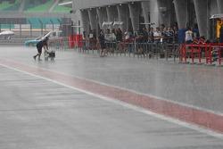 Heavy rain at Sepang Circuit