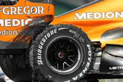 Christijan Albers, Spyker F1 Team, F8-VII, Bridgestone Tyre failed during practice
