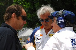Gerhard Berger, Scuderia Toro Rosso, 50% Team Co Owner, Flavio Briatore, Renault F1 Team, Team Chief, Managing Director and Sir Jackie Stewart