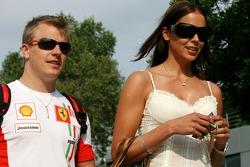 Kimi Raikkonen Scuderia Ferrari and wife Jennie