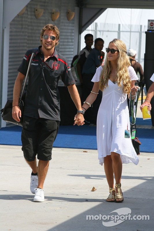 Jenson Button Honda Racing F1 Team With Florence