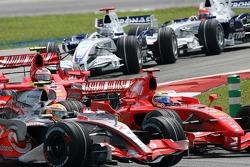 Lewis Hamilton, McLaren Mercedes, Felipe Massa, Scuderia Ferrari, Kimi Raikkonen, Scuderia Ferrari, Nick Heidfeld, BMW Sauber F1 Team, Robert Kubica,  BMW Sauber F1 Team