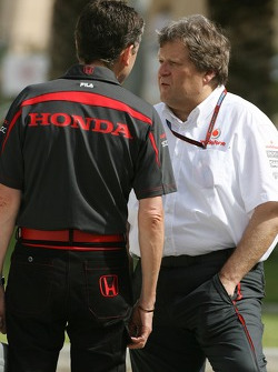 Nick Fry, Honda Racing F1 Team, Chief Executive Officer and Norbert Haug, Mercedes, Motorsport chief