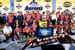 Victory lane: race winner Jeff Gordon celebrates with his team