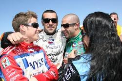 Marco Andretti, Dario Franchitti, Tony Kanaan et Danica Patrick