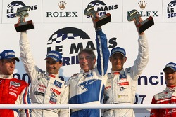LMP1 podium: class and overall winners Pedro Lamy and Stéphane Sarrazin