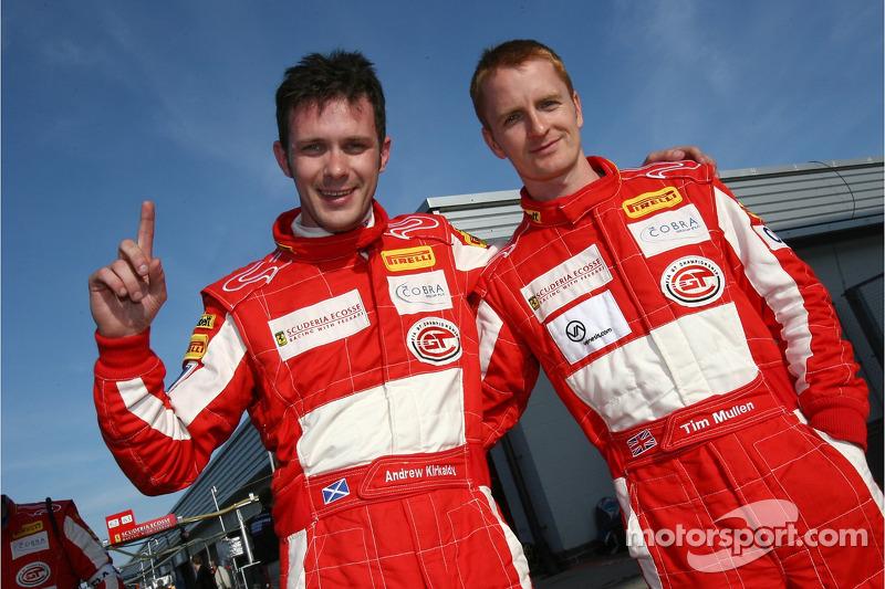 GT2 pole winners Tim Mullen and Andrew Kirkaldy