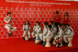 Vodafone Spain Go-Karting Challenge: Fernando Alonso, McLaren Mercedes answers questions from the youngsters
