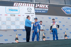 Podium interviews: winner Dane Cameron, third place Jonathan Goring and second place Dan DiLeo