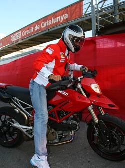 Michael Schumacher, Scuderia Ferrari, Advisor leaves the track on a Ducati