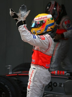 Second place Lewis Hamilton