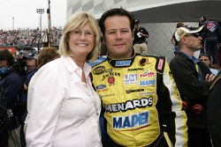 Robby Gordon poses for a photo with his mom, Marlene Gordon