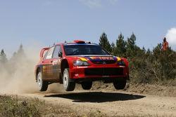 Toni Gardemeister et Jakke Hockanen, MMSP LTD, Mitsubishi Lancer WRC05