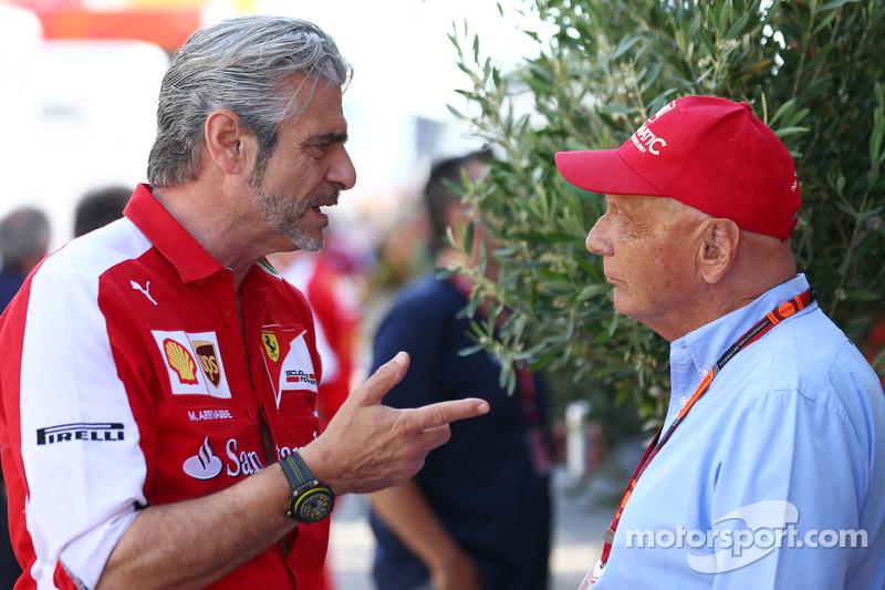 Нікі Лауда, Невиконавчий голова Mercedes з Мауріціо Аррівабене, Керівник Scuderia Ferrari