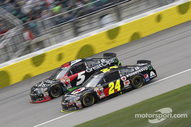 Kasey Kahne, Hendrick Motorsports, Chevrolet, und Jeff Gordon, Hendrick Motorsports, Chevrolet