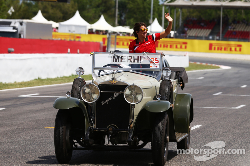 Roberto Merhi, Manor F1 Team on the drivers parade