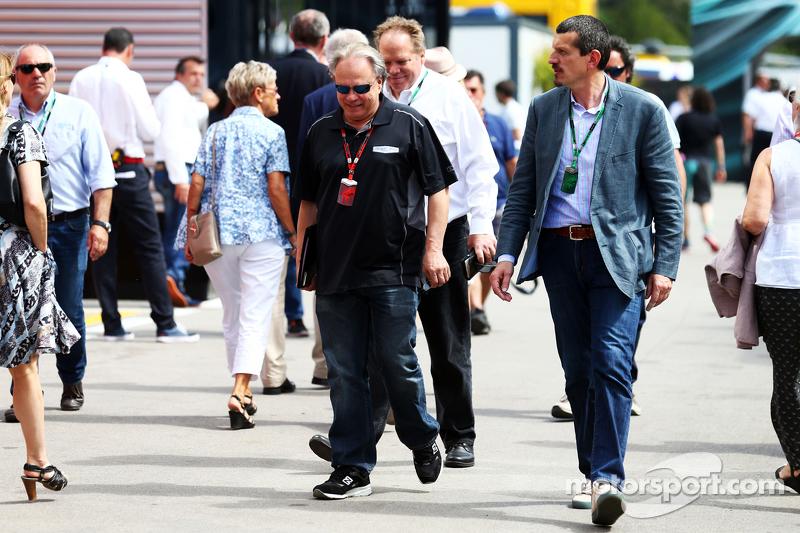 Gene Haas, Président de Haas Automotion avec Gunther Steiner, Haas F1, Team Principal